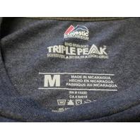 Majestic New England Patriots Go Pats Heather Blue T-Shirt Size M NFL Football
