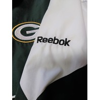 Reebok NFL Team Apparel Green Bay Packers Full Zip Windbreaker Jacket Size XL