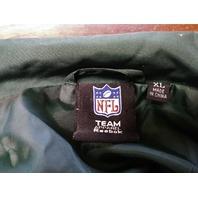 Reebok NFL Team Apparel Green Bay Packers Full Zip Windbreaker Jacket Size XL
