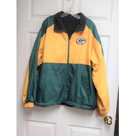 GIII by Carl Banks Green Bay Packers Reversible Jacket Size M Fleece Football