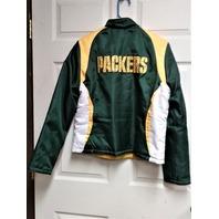 NFL Team Apparel Women's Green Bay Packers Reversible Jacket Size L Fleece