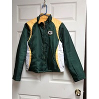 NFL Team Apparel Women's Green Bay Packers Reversible Jacket Size L Fleece