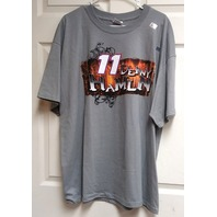 Chase Authentics NASCAR Denny Hamlin #11 Graphic T-shirt Gray Size 2XL NEW