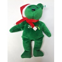 Salvino's Bamm Beano's Ken Griffey Jr Green Christmas Beanie Plush Bear