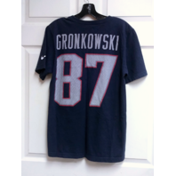 New England Patriots Blue T-Shirt Size S Gronkowski #87 Gronk NFL Football