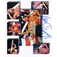 """Hacksaw Jim Duggan Autographed 8.5"""" x 11"""" Photo Wrestling WWF WCW WWE"""
