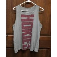 '47 Brand Gray Virginia Tech Hokies Racerback Tank Top Shirt Size XL