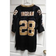 Reebok Onfield Ingram #28 Black Gold New Orleans Saints Jersey Shirt Sz 52 NFL