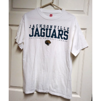 NFL Jacksonville Jaguars White Graphic T-Shirt Tee Size M Medium Football