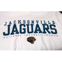 NFL Jacksonville Jaguars White Graphic T-Shirt Tee Size M Medium Football