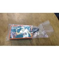 Vintage 2003 Miami Dolphins Jason Taylor Dol-Fan Fan Club Rubber Luggage Bag Tag