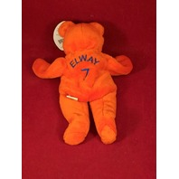 Salvino's Bammers John Elway #7 Orange Beanie Plush Bear Denver Broncos