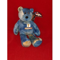 Limited Treasures John Elway #7 Tie Dye Blue Beanie Bear Broncos Champs