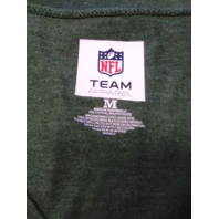 NFL Team Apparel Green New York Jets V-Neck Cap Sleeve T-Shirt Women's Size M