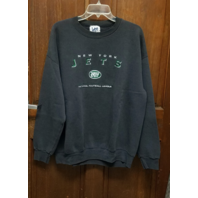 Vtg Lee Sport Charcoal Gray New York Jets Sweatshirt Men's Size XL Football