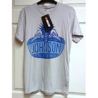 NASCAR Jimmie Johnson #48 Vintage Sign Silver Gray T-Shirt Size M NEW NWT