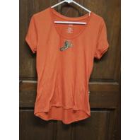 Jennifer Lauren Orange Norfolk Tides Shirt Women's Size L Seahorse Trident