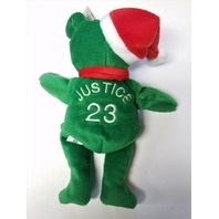 Salvino's Bamm Beano's David Justice #23 Green Christmas Beanie Plush Bear