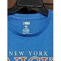 NBA New York Knicks Blue Graphic T-Shirt Men's Size XL Basketball