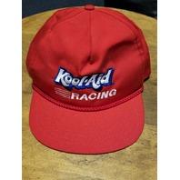 Vintage Kool-Aid Racing Red Trucker Hat Snapback Cap NASCAR