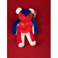 Salvino's Bammers Opening Day Kerry Wood #34 Beanie Plush Bear Red White Blue