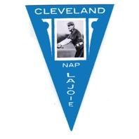 2012 Panini Golden Age Ferguson Bakery Pennants Blue #34 Nap Lajoie Cleveland