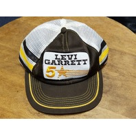 Vintage Levi Garrett #5 Star 3 Stripe Trucker Mesh Hat Baseball Cap USA NASCAR