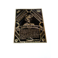 1993 Legendary Foils Promo Cards Satchel Paige Black & Lou Gehrig Green Baseball