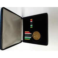 Liberation Of Kuwait Commemorative Medal Presentation Set
