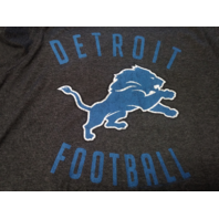 NFL Team Apparel Detroit Lions Heather Black Graphic T-shirt Size L Football