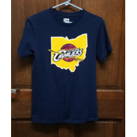Majestic Lebron James #23 Cleveland Cavaliers Navy Blue T-Shirt Size S