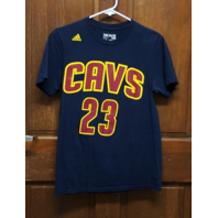 Adidas Go To Tee Lebron James #23 Cleveland Cavaliers Navy Blue T-Shirt Size S