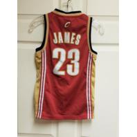 Lebron James #23 Cleveland Cavaliers Sleeveless Jersey Shirt Youth Sz S Adidas