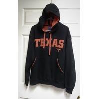 Champs Sports Black Orange Texas Longhorns Pullover Hoodie Jacket Size L NCAA