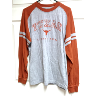 Pro Edge Gray & Orange Texas Longhorns Long Sleeve T-Shirt Size M NCAA
