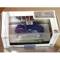 1967 VW BEETLE DELUXE EUROPEAN MODEL Blue M2 AUTO-THENTICS LIMITED RUBBER TIRES 1/64 R01