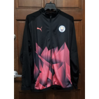 PUMA Manchester City Stadium DryCELL Full-Zip Jacket Men's Size 3XL Black Peach