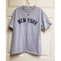 Majestic New York Yankees Mickey Mantle #7 Gray T-Shirt Tee No Size No Tags