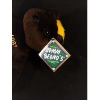 "Salvino's Bamm Beano's Roger Maris #9 1961 ""61"" Brown Beanie Plush Toy Bear"