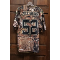 CLAY MATTHEWS Green Bay Packers #52 Camouflage Stitched Jersey Size 40 Limited Edition
