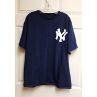 Majestic New York Yankees Don Mattingly #23 Navy Blue T-Shirt Tee Size L MLB