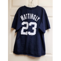 Majestic New York Yankees Don Mattingly #23 Navy Blue T-Shirt Tee Size L MLB