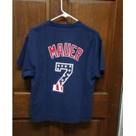 Majestic Blue Minnesota Twins Joe Mauer #7 T-Shirt Size L MLB Baseball