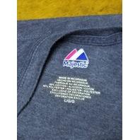 Majestic Blue Minnesota Twins Joe Mauer #7 T-Shirt Women's Size L MLB Baseball