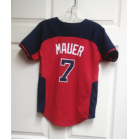 Majestic Blue Minnesota Twins #7 Joe Mauer Baseball Jersey Youth Size M 10/12
