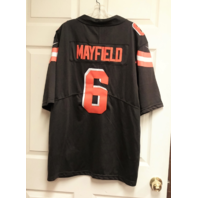 NFL On Field Cleveland Browns Baker Mayfield #6 Jersey Shirt Men's Size L Large