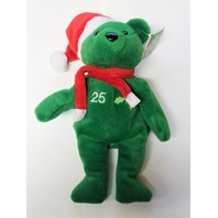 Salvino's Bamm Beano's Mark McGwire #25 Green Christmas Beanie Plush Bear
