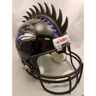 ED REED Signed Full Size Replica Riddell Helmet JSA Baltimore Ravens Autograph