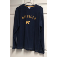 Columbia Navy Blue & Yellow University of Michigan Long Sleeve Shirt Size M NCAA