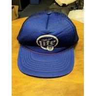 Lot Of 3 NASCAR Trucker Baseball Caps Hats Miller & Miller Lite & Coors Visor